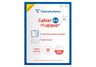 CAHIER 48P 24*32 SEYES COUV EF