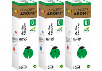 3x10ML MENTHE KENTUCKY 0MG