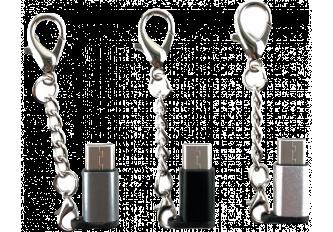 BOITE DE 24 PORTE CLE CONVERTISEUR MICRO-USB