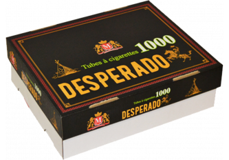 LOT 5 HARD BOX 1000 TUBES DESPERADO