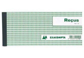 CARNET DE RECU 90X130