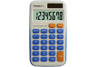 CALCULATRICE DE POCHE   ECOLIER - 68 x 119 mm