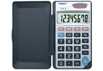 CALCULATRICE DE POCHE- 67 x 118 mm