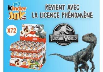 B.72 OEUFS KINDER JOY JURRASSIC WORLD