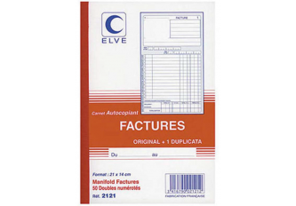 FACTURIER A5 14x21 ELVE DUPLI