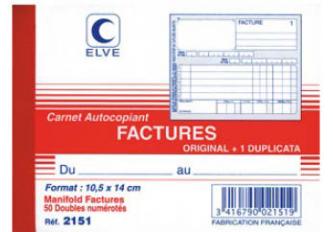 FACTURIER 140x105 ELVE DUPLI
