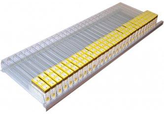 RANGEES A POUSSOIR 1 METRE LINEAIRE + 54 FLACONS OFFERT