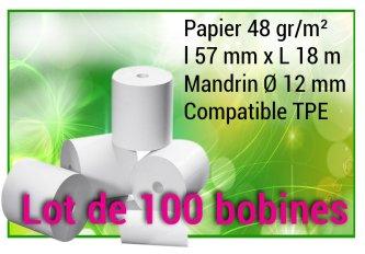 PROMO 100 BOBINES THERMIQUE 57*40