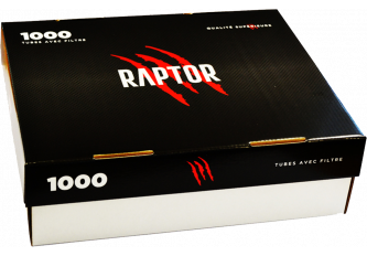 LOT 10 BOITES 1000 TUBES RAPTOR