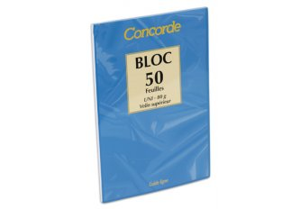 C. 20 BLOCS A LETTRE A5 UNIS