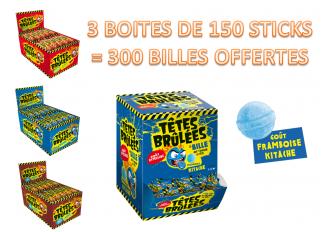 COLIS 3 BOITES DE 150 STICKS TETES BRULEES + 300 BILLES TETES BRULEES OFFERTES