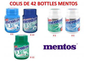 COLIS MENTOS GUM 42 BOTTLES